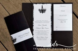 Pocket Folds (4 x 9 ) Custom Wedding Invitation