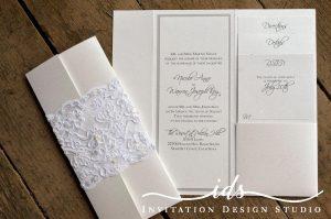 Pocket Folds (4 x 9 ) Custom Wedding Invitation