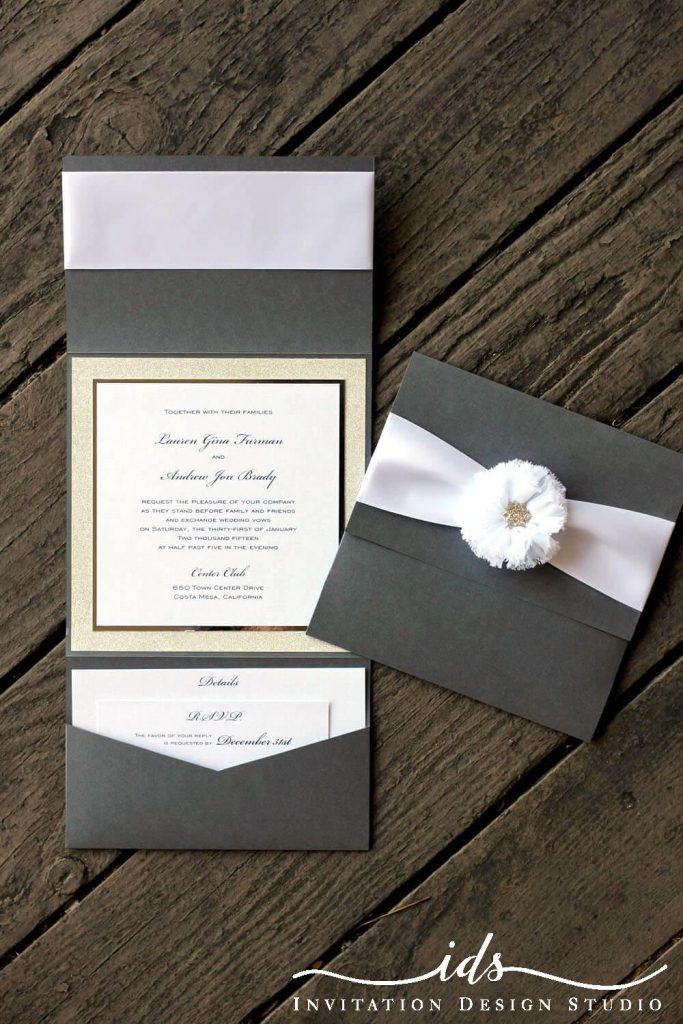 Bella Luxe Oversized Custom Wedding Invitations