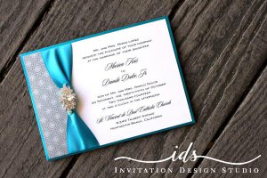 Pocket Cards (landscape and square) Custom Wedding Invitatio