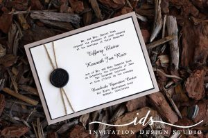 Pocket Cards (landscape and square) Custom Wedding Invitation