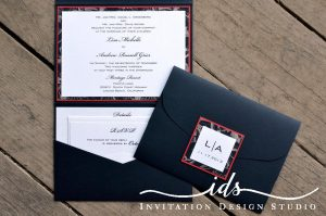 Pocket Folds (landscape) Custom Wedding Invitation